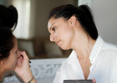 Makeup Artist behind the scenes of Tania Minnaar's Makeover
